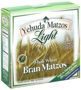 Yehuda Matzos Bran Matzos Whole Wheat