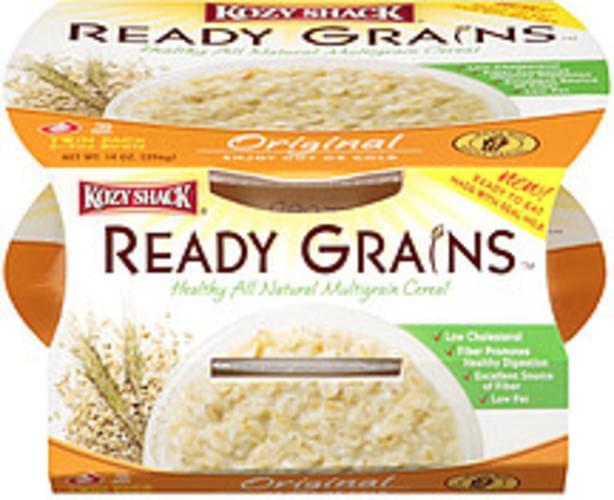 Kozy Shack Original 2-7oz Bowls Ready Grains Natural Multigrain Cereal - 14 oz