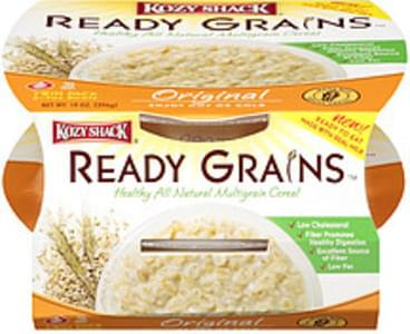 Kozy Shack Ready Grains Natural Multigrain Cereal Original 2-7oz Bowls