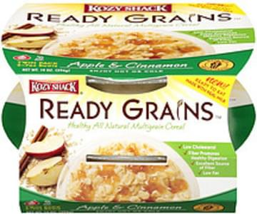 Kozy Shack Ready Grains Natural Multigrain Cereal Apple & Cinnamon  2-7oz Bowls