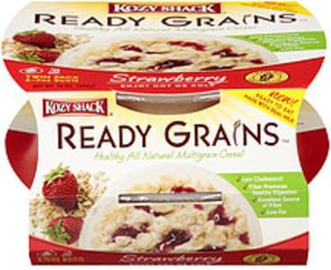 Kozy Shack Ready Grains Natural Multigrain Cereal Strawberry 2-7oz Bowls