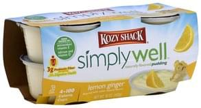 Kozy Shack Pudding Naturally Flavored, Lemon Ginger