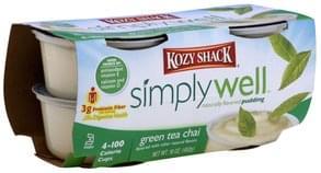 Kozy Shack Pudding Naturally Flavored, Green Tea Chai