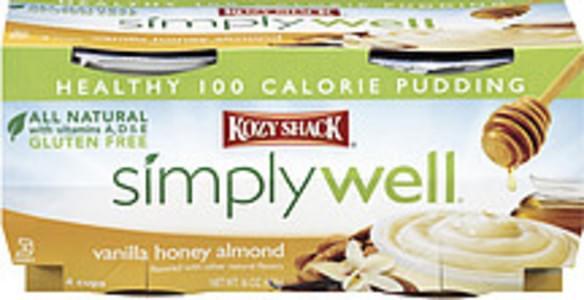 Kozy Shack Pudding Simply Well Vanilla Honey Almond
