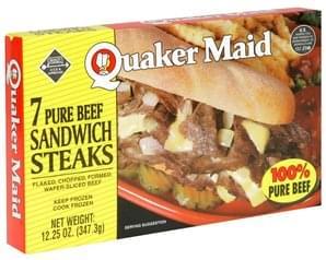 Quaker Maid Pure Beef Sandwich Steaks