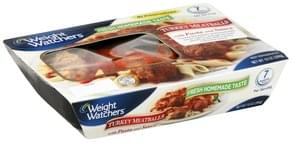 Weight Watchers Meatballs Turkey, with Pasta and Sauce