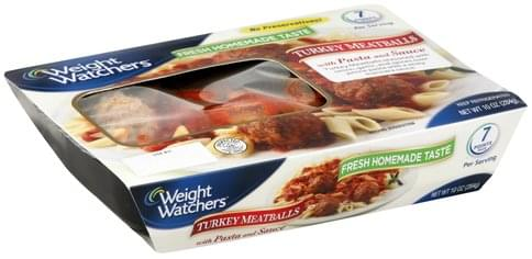 Weight Watchers Turkey, with Pasta and Sauce Meatballs - 10 oz