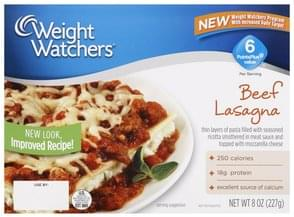 Weight Watchers Lasagna Beef