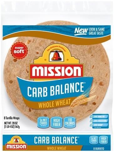 Mission Super Soft, Burrito Tortilla Wraps - 8 ea