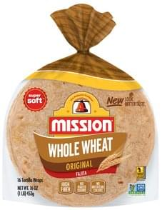 Mission Tortillas Wraps Tortilla Wraps, Whole Wheat, Original