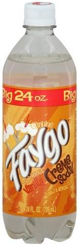 Faygo Vanilla Creme Soda - 24 oz