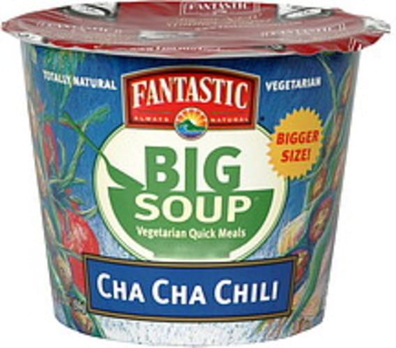 Fantastic Foods Soup, Cha Cha Chili Vegetarian Quick Meals - 3.3 oz
