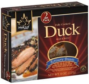 Maple Leaf Farms Roast Half Duck - 14 oz, Nutrition