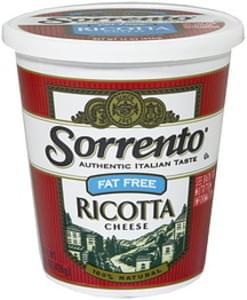 Sorrento Ricotta Cheese Fat Free