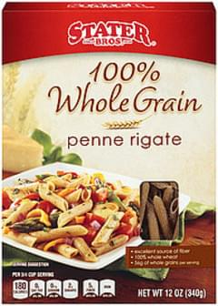 Stater Bros. Pasta Rigate 100% Whole Grain Penne