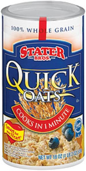 Stater Bros. Quick Oats Oatmeal - 18 oz