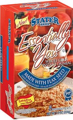 Stater Bros. Instant Oatmeal Essentially You Whole Grain Made W/Flax Seed