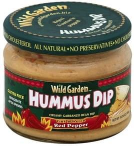 Wild Garden Hummus Dip Fire Roasted Red Pepper