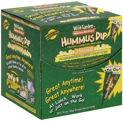 Wild Garden Traditional, To Go Packs Hummus Dip - 24 ea