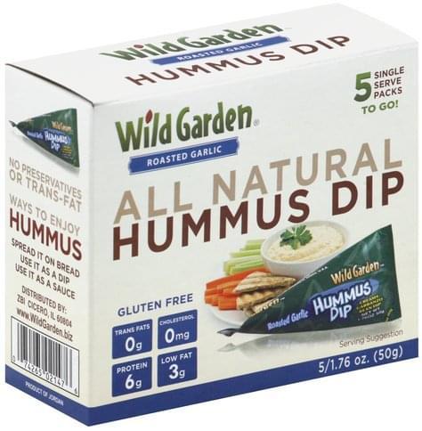 Wild Garden Roasted Garlic Hummus Dip - 5 ea