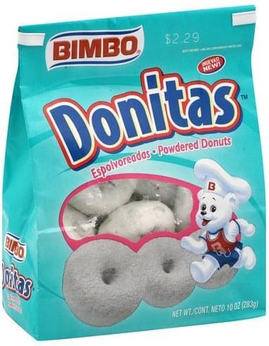 Bimbo Powdered Donuts - 10 oz, Nutrition Information   Innit