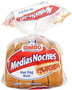 Bimbo Medias Noches Buns Hot Dog