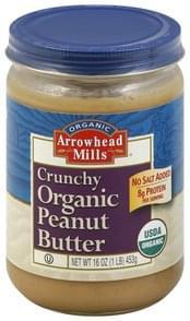 Arrowhead Mills Peanut Butter Organic, Crunchy