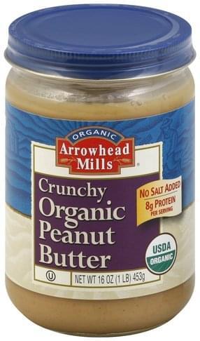 Arrowhead Mills Organic, Crunchy Peanut Butter - 16 oz