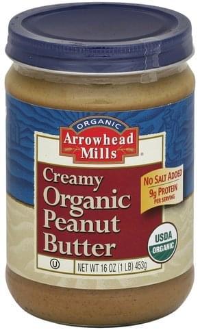 Arrowhead Mills Organic, Creamy Peanut Butter - 16 oz