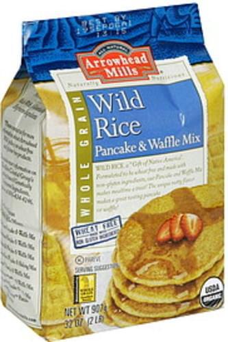 Arrowhead Mills Wild Rice, Whole Grain Pancake & Waffle Mix - 32 oz