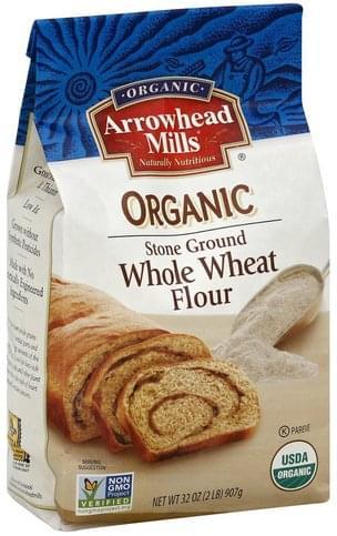 Arrowhead Mills Whole Wheat, Organic, Stone Ground Flour - 32 oz