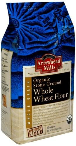 Arrowhead Mills Organic Stone Ground Whole Wheat Flour - 80 oz