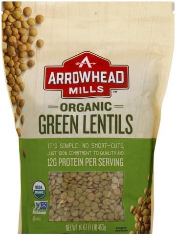Arrowhead Mills Organic, Green Lentils - 16 oz