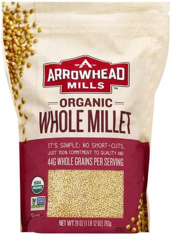 Arrowhead Mills Organic, Whole Millet - 28 oz
