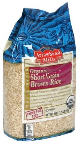 Arrowhead Mills Short Grain, Organic Brown Rice - 28 oz