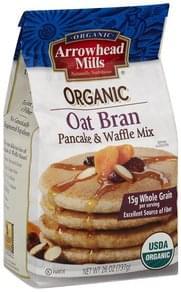 Arrowhead Mills Pancake & Waffle Mix Organic, Oat Bran
