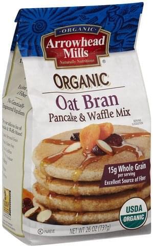 Arrowhead Mills Organic, Oat Bran Pancake & Waffle Mix - 26 oz