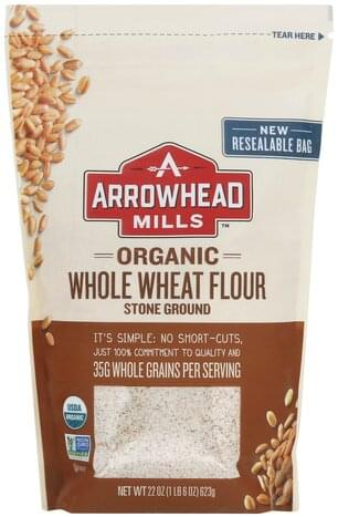 Arrowhead Mills Organic, Whole, Stone Ground Wheat Flour - 22 oz