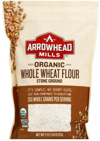 Arrowhead Mills Organic, Stone Ground Whole Wheat Flour - 22 oz
