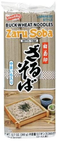 Shirakiku with Yam, Japanese Style Buckwheat Noodles - 12.7 oz