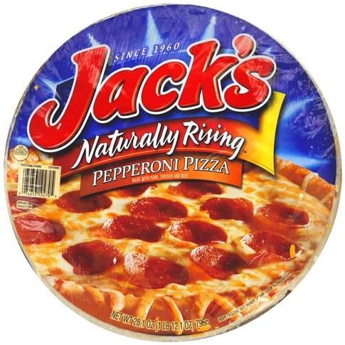 Jacks Naturally Rising, Pepperoni Pizza - 28.1 oz..