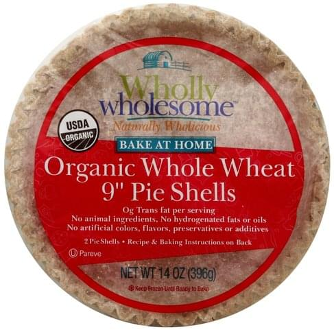 Wholly Wholesome Organic, Whole Wheat, 9 Inch Pie Shells - 2 ea