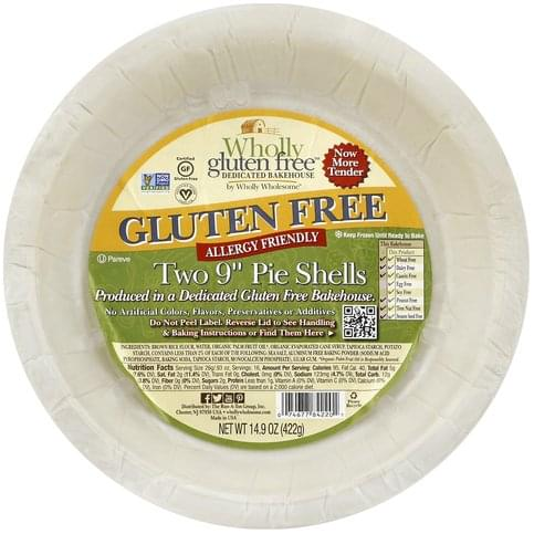 Wholly Wholesome Gluten Free, 9 Inch, Two Pie Shells - 14.9 oz
