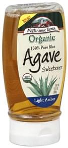 Maple Grove Farms Blue Agave Sweetener Organic, 100% Pure, Light Amber