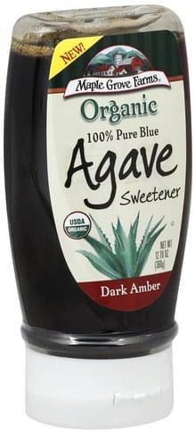 Maple Grove Farms Organic, 100% Pure, Dark Amber Blue Agave Sweetener - 12.7 oz