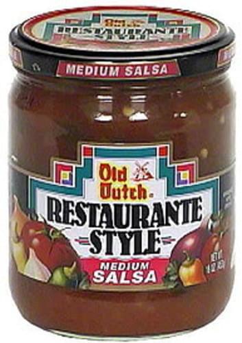 Old Dutch Restaurante Style Medium Salsa - 16 oz