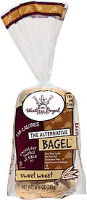 Western Bagel Wheat Sliced Bagels - 10 oz