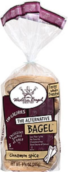 Western Bagel Bagels Cinnamon Spice Sliced