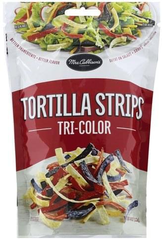 Mrs Cubbisons Tri-Color Tortilla Strips - 4 oz