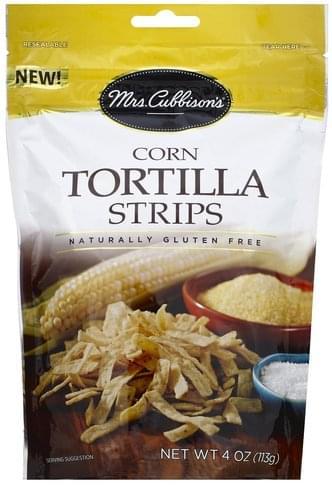 Mrs Cubbisons Corn Tortilla Strips - 4 oz
